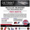Battle of the Badge First Responder Night, Friday, March 25, 2016 at the Palace of Auburn Hills